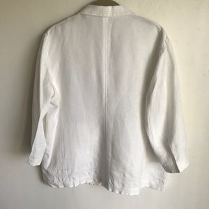Chico's Tops - Chico's White Linen Blend Shirt Top Size 1